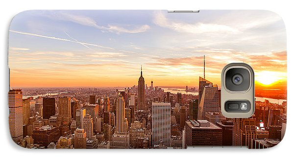 New York City - Sunset Skyline Galaxy S7 Case