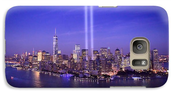 Galaxy Case featuring the photograph New York City Tribute In Lights World Trade Center Wtc Manhattan Nyc by Jon Holiday