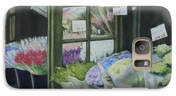 Galaxy Case featuring the painting New York Flower Shop by Rebecca Matthews