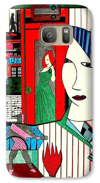 Galaxy Case featuring the drawing New York Life by Bill OConnor