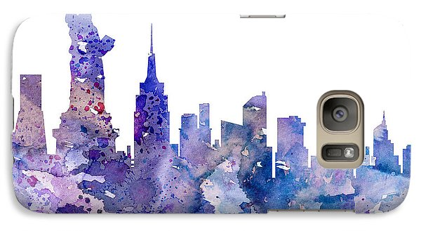 New York Galaxy S7 Case by Watercolor Girl