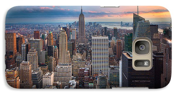 Empire State Building Galaxy S7 Case - New York New York by Inge Johnsson