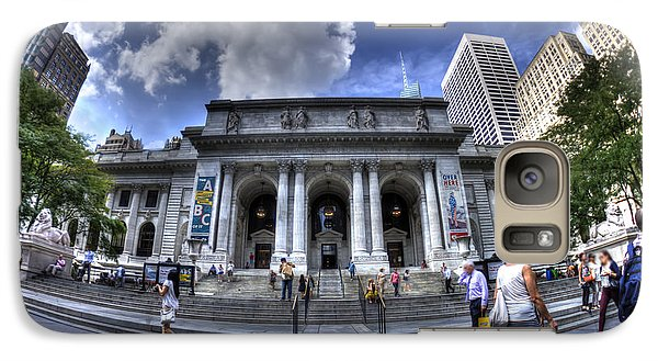 Galaxy Case featuring the photograph New York Public Library by Rafael Quirindongo
