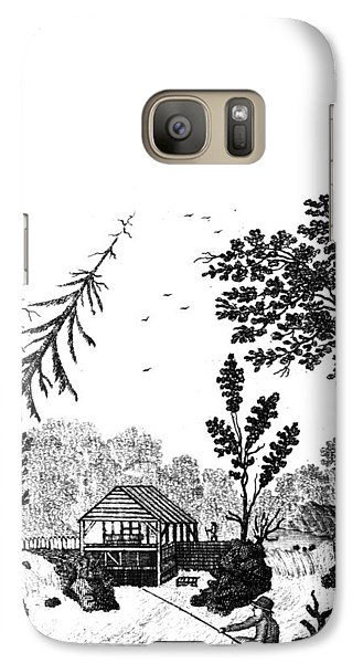 Galaxy Case featuring the painting New York Saw Mill, 1792 by Granger