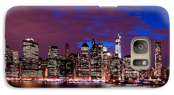 Galaxy Case featuring the photograph New York Skyline Magic Hour-- From Brooklyn Heights Promenade by Mitchell R Grosky