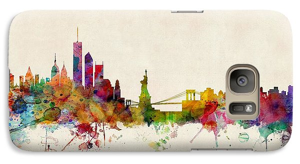 Apple Galaxy S7 Case - New York Skyline by Michael Tompsett