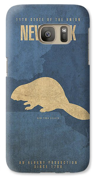 New York State Facts Minimalist Movie Poster Art  Galaxy S7 Case by Design Turnpike