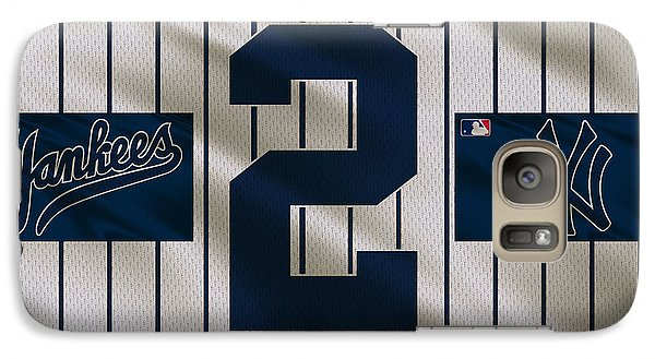 New York Yankees Derek Jeter Galaxy Case by Joe Hamilton