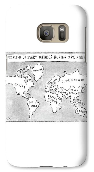 Stork Galaxy S7 Case - New Yorker August 25th, 1997 by Roz Chast