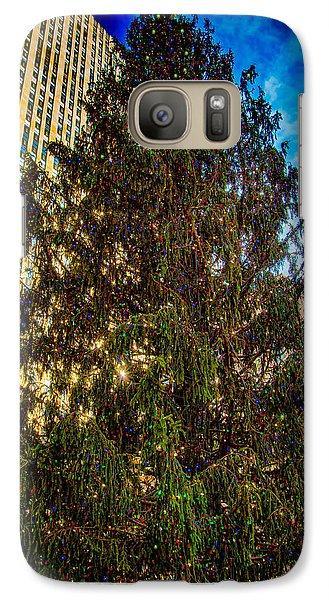 Galaxy Case featuring the photograph New York's Holiday Tree by Chris Lord