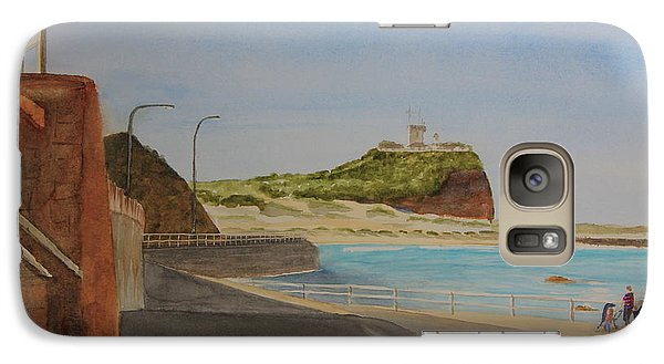 Galaxy Case featuring the painting Newcastle Nsw Australia by Tim Mullaney