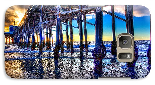 Galaxy Case featuring the photograph Newport Beach Pier - Low Tide by Jim Carrell