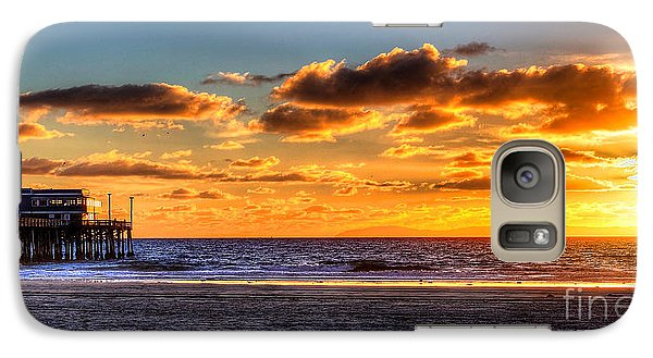 Galaxy Case featuring the photograph Newport Beach Pier - Sunset by Jim Carrell