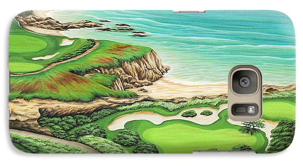 Galaxy Case featuring the painting Newport Coast by Jane Girardot