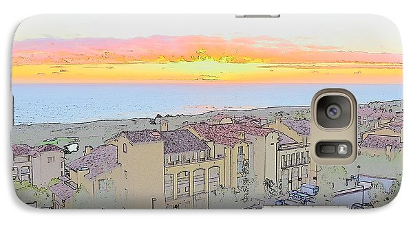Galaxy Case featuring the photograph Newport Coast Sunset by Penny Lisowski
