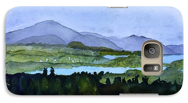 Galaxy Case featuring the painting Newport From Brownington Lookout by Donna Walsh