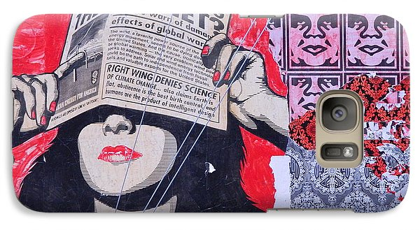 Galaxy Case featuring the photograph Shepard Fairey Graffiti Andre The Giant And His Posse Wall Mural by Kathy Barney