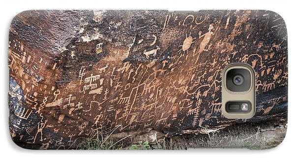 Galaxy Case featuring the photograph Newspaper Rock by Cheryl McClure