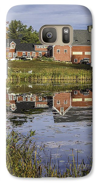 Galaxy Case featuring the photograph Nh Farm Reflection by Betty Denise