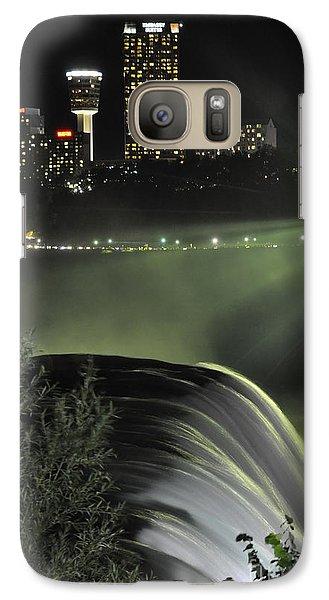 Galaxy Case featuring the photograph Niagara At Night by Gina Savage