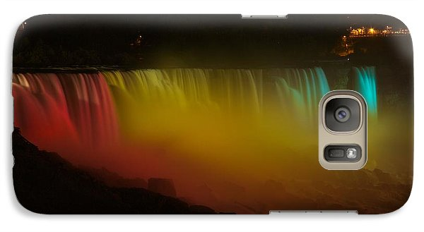 Galaxy Case featuring the photograph Niagara Falls A Glow by Dave Files