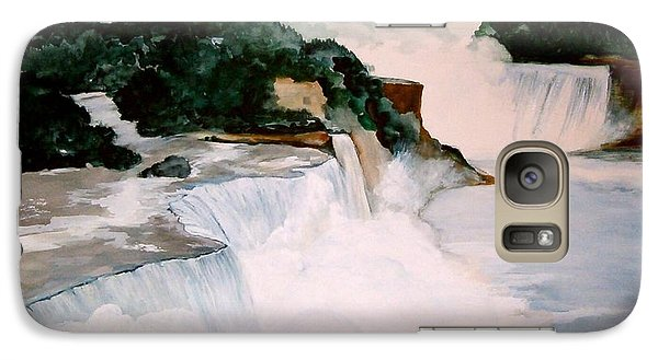 Galaxy Case featuring the painting Niagara Falls by Ellen Canfield
