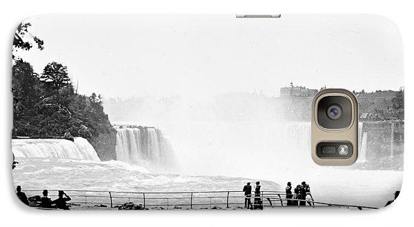 Galaxy Case featuring the photograph Niagara Falls Prospect Park 1904 Vintage Photograph by A Gurmankin