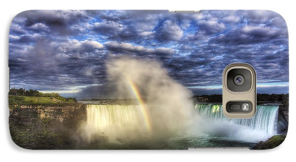 Galaxy Case featuring the photograph Niagara Falls Rainbow by Shawn Everhart