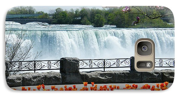 Galaxy Case featuring the photograph Niagara - Springtime Tulips by Phil Banks