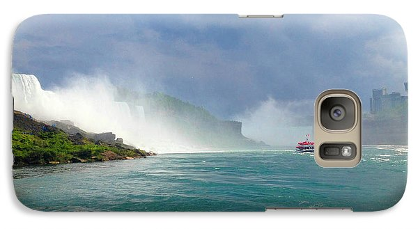 Galaxy Case featuring the photograph Niagra by Linda Mesibov