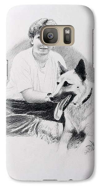Galaxy Case featuring the drawing Nicholai And Bowser by Daniel Reed