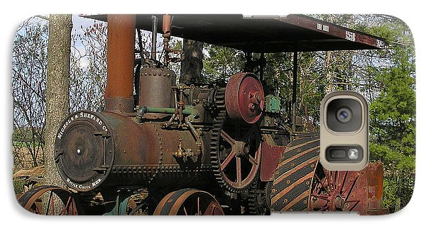 Galaxy Case featuring the photograph Nichols And Shepard Old Tractor by Judy  Johnson