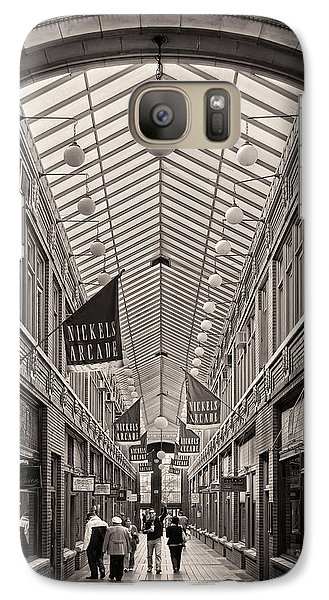 Galaxy Case featuring the photograph Nickels Arcade by James Howe