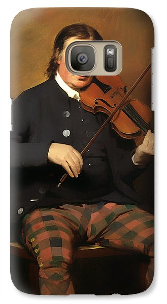 Violin Galaxy S7 Case - Niel Gow - Violinist And Composer by Mountain Dreams