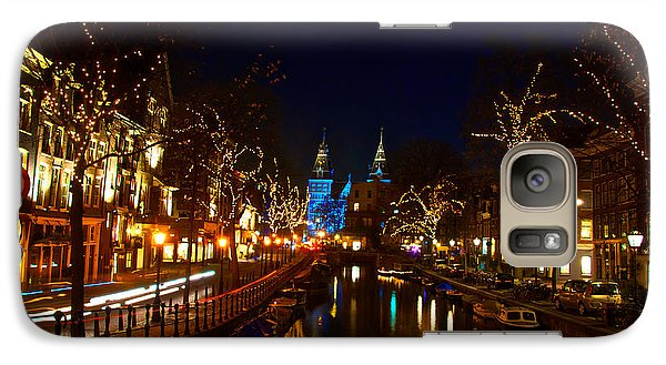 Galaxy Case featuring the photograph Nieuwe Spieglestraat At Night by Jonah  Anderson