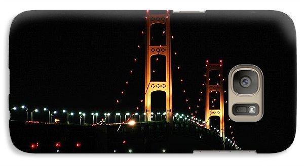 Galaxy Case featuring the photograph Night Bridge by Bill Woodstock