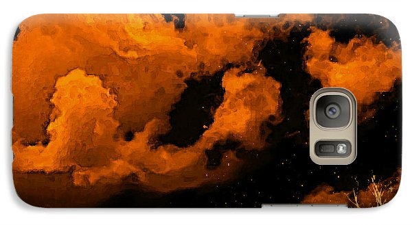 Galaxy Case featuring the painting Night Clouds by Persephone Artworks