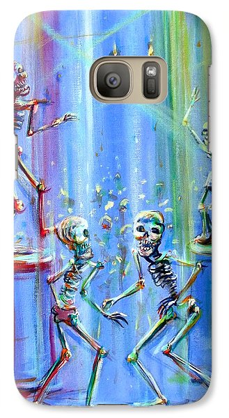 Galaxy Case featuring the painting Night Club by Heather Calderon