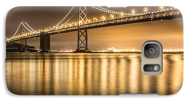 Galaxy Case featuring the photograph Night Descending On The Bay Bridge by Suzanne Luft
