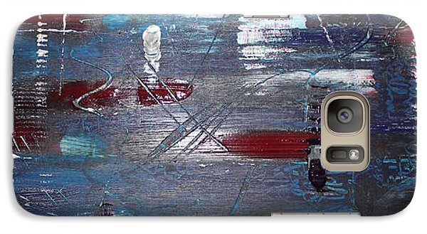 Galaxy Case featuring the painting Night Drive by Lucy Matta