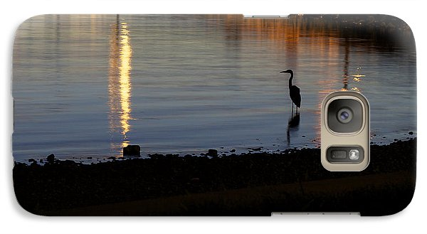 Galaxy Case featuring the photograph Night Fishing - A Great Blue Heron  by Jane Eleanor Nicholas