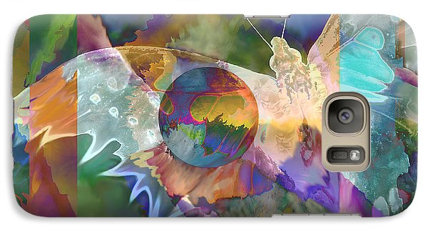 Galaxy Case featuring the digital art Night Flight by Ursula Freer