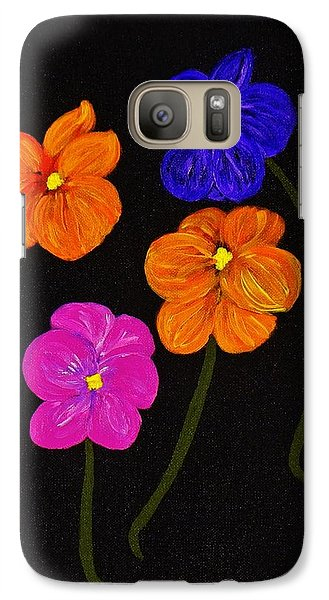 Galaxy Case featuring the painting Night Glow by Celeste Manning