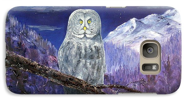 Galaxy Case featuring the painting Night Hunter by Lee Piper
