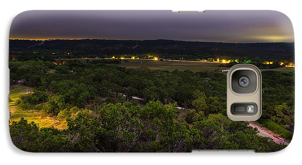 Galaxy Case featuring the photograph Night In A Texas Hill Country Valley by Darryl Dalton