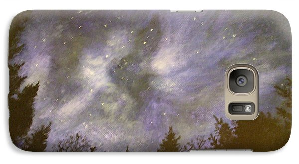 Galaxy Case featuring the painting Night In The Forrest by Dan Wagner