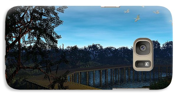 Galaxy Case featuring the digital art Night In The Jersey Pines by John Pangia