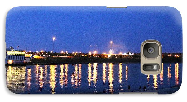Galaxy Case featuring the photograph Night Light Dancing On The River by Yumi Johnson