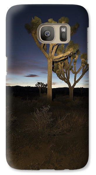 Night Light Painting Joshua Tree National Park Galaxy S7 Case