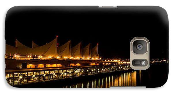 Galaxy Case featuring the photograph Night Lights On The Waterfront by Haren Images- Kriss Haren